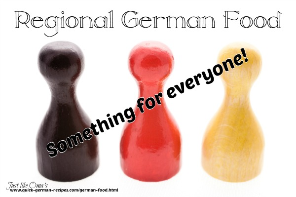 Regional German Food ... something for everyone