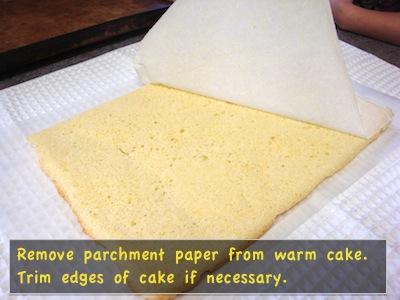 Remove parchment paper