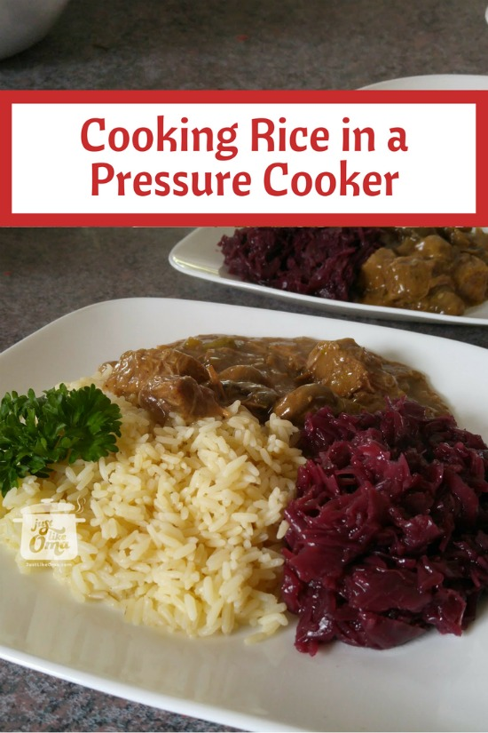 cooking rice in a pressure cooker