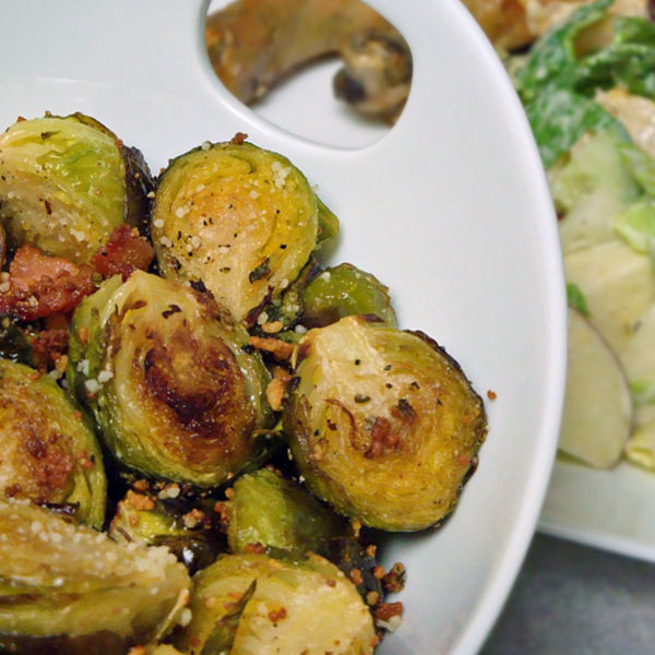 Brussel Sprouts with bacon, yum yum!