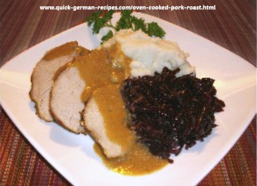 Oven Pork Cooked Roast - a German staple
