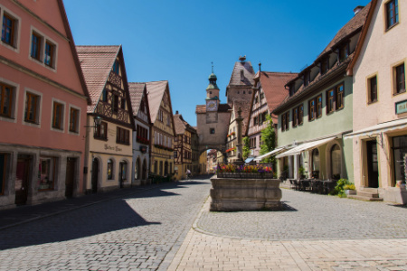 The enchanting town of Rothenburg Ob Der Tauber. The most painted and visited place in Bavaria.