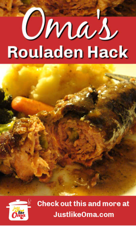ROULADEN HACK: Oma's Beef Flatladen tastes just like the traditional Rouladen recipe, only easier to make and much less expensive.