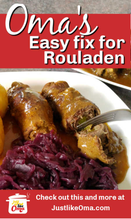 Oma's easy way to make the authentic Rouladen recipe taste without all the work or expense. Make Oma's Flatladen today!