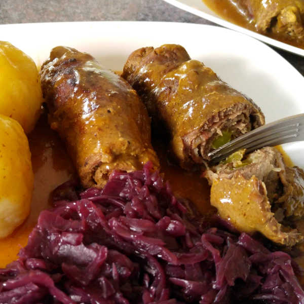 A delicious beef rouladen recipe from Germany using a pressure cooker