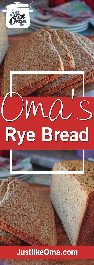 German rye bread using a bread machine. How easy is that! ❤️ #homemadebread #ryebread #germanrecipes #justlikeoma #germanbread https://www.quick-german-recipes.com/rye-bread-recipe.html