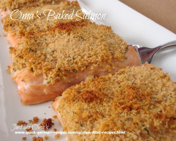Oma's Easy Baked Salmon Fillets
