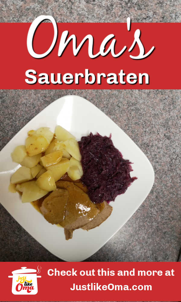Oma's Sauerbraten! Tender and flavorful
