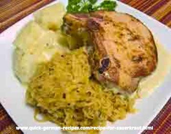 Kassler Chops with Sauerkraut - always tender