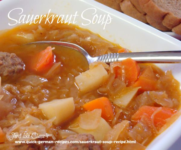 German Sauerkraut Soup Recipe
