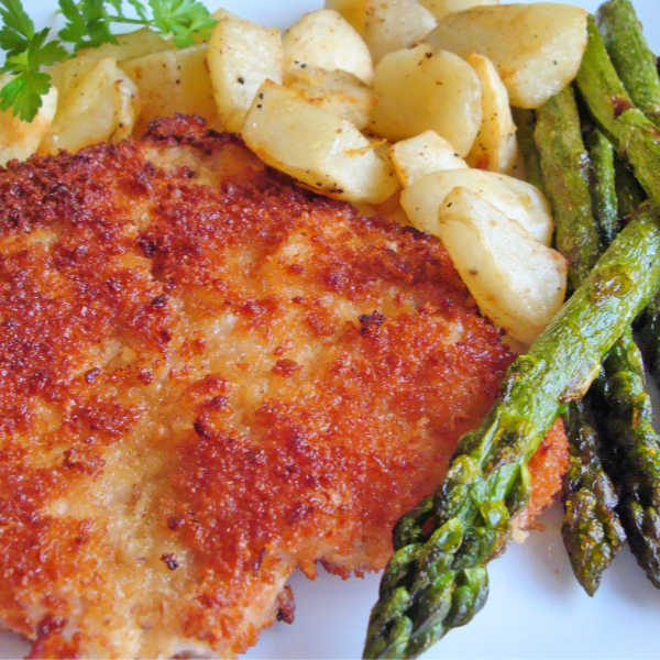 Oma's delicious German Pork Schnitzel