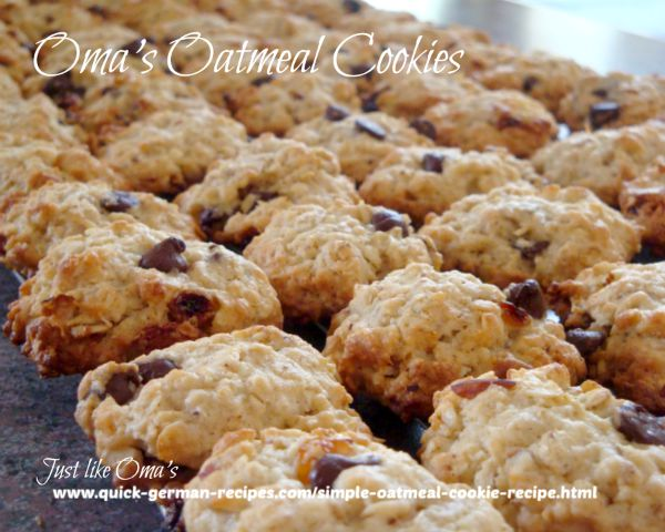 Oma's simple oatmeal cookies