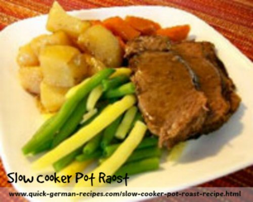Slow Cooker Pot Roast Recipe made Just like Oma