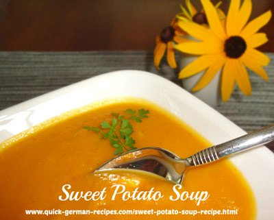 Sweet Potato Soup - non-German creamy deliciousness