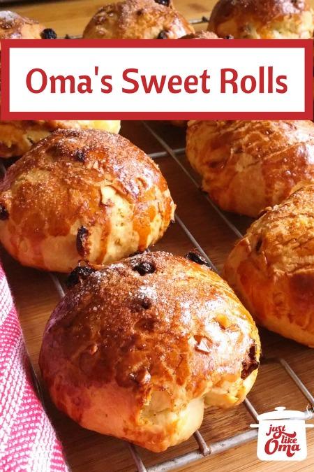 German sweet rolls with raisins