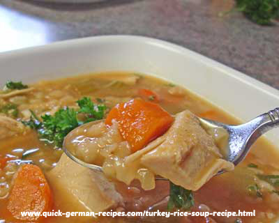 Puten-Reis Suppe - economical turkey rice soup