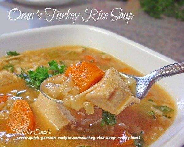 Oma's Turkey Rice Soup