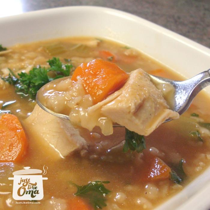 Puten-Reis Suppe - economical turkey rice soup