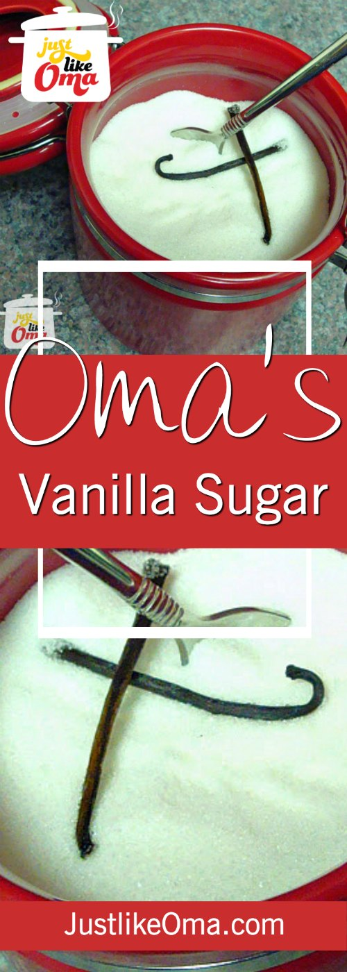 Make your own vanilla sugar ... for baking and sprinkling over pancakes, etc., so easy ❤️. Check out https://www.quick-german-recipes.com/vanilla-sugar-recipe.html