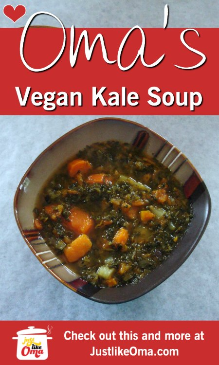Vegan Sweet Potato and Kale Soup ...  deliciousness.