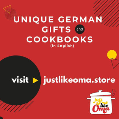 Visit Just Like Oma Store for unique German gifts and cookbooks (in English)