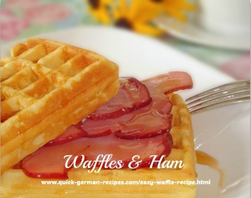 Waffles - uses all purpose flour AND whole wheat!