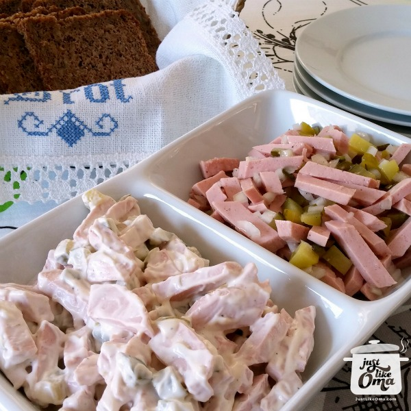 Wurstsalat and Fleischsalat (meat salads)