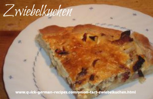 Onion Tart (Zwiebelkuchen) - sent in by Joachim!